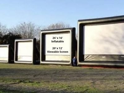 26' Outdoor Movie Screen,  Huge Movie Screen, Outdoor Movie Night, Outdoor Movies