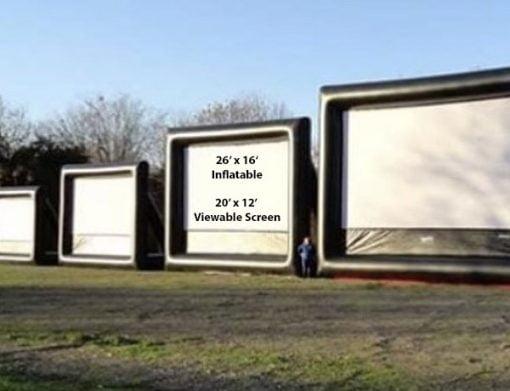 26' Outdoor Movie Screen,  Huge Movie Screen, Outdoor Movie Night, Outdoor Movies