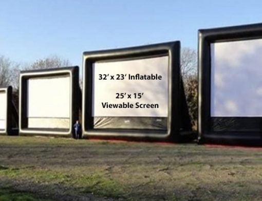 32' Outdoor Movie Screen,  Huge Movie Screen, Movie Screen Inflatable, Outdoor Movie Night