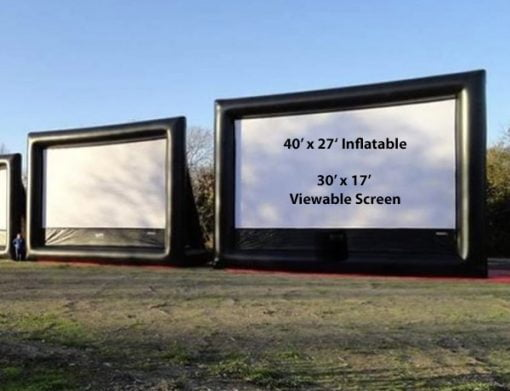 40' Outdoor Movie Screen,  Inflatable Movie Screen, Movie Night, Outdoor Movie
